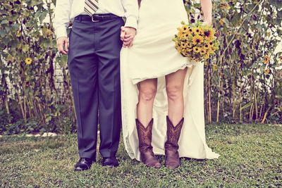 Bride-cowboy-boots-wedding-arosyoutlook-rosy-outlook
