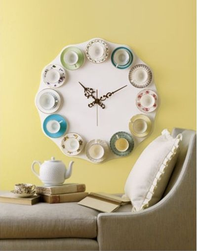 Yellow-tea-cup-clock-arosyoutlook