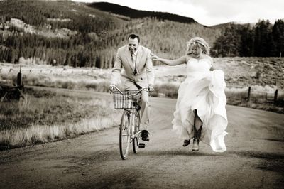 Bride-cowboy-boots-wedding-knot-bicycle-groom-arosyoutlook-rosy-outlook